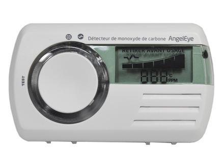 Digitale CO-melder met LCD scherm wit
