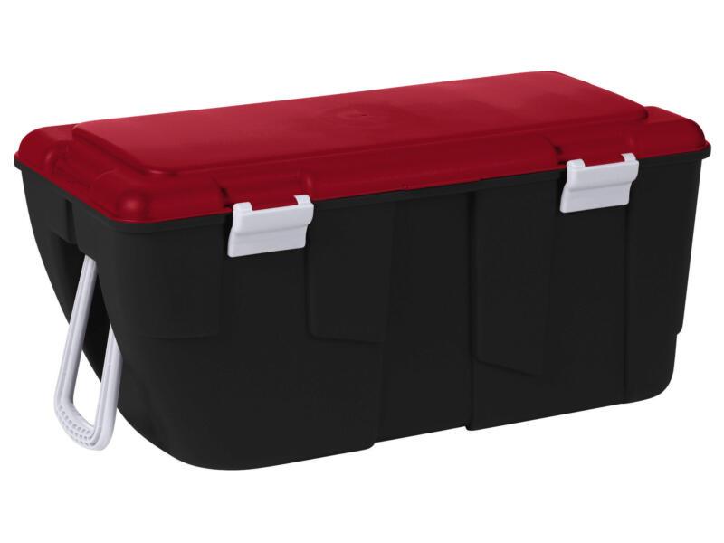Keter Discover opbergkoffer 80l zwart-rood