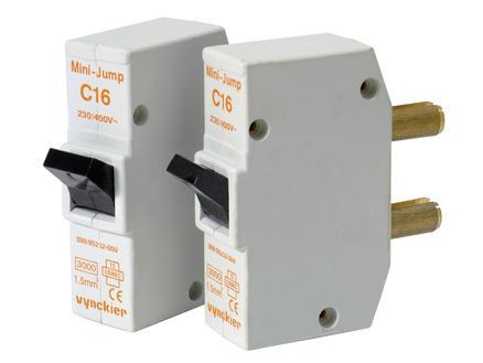 Vynckier Disjoncteur à broches Mini-Jump 16A 2 pièces