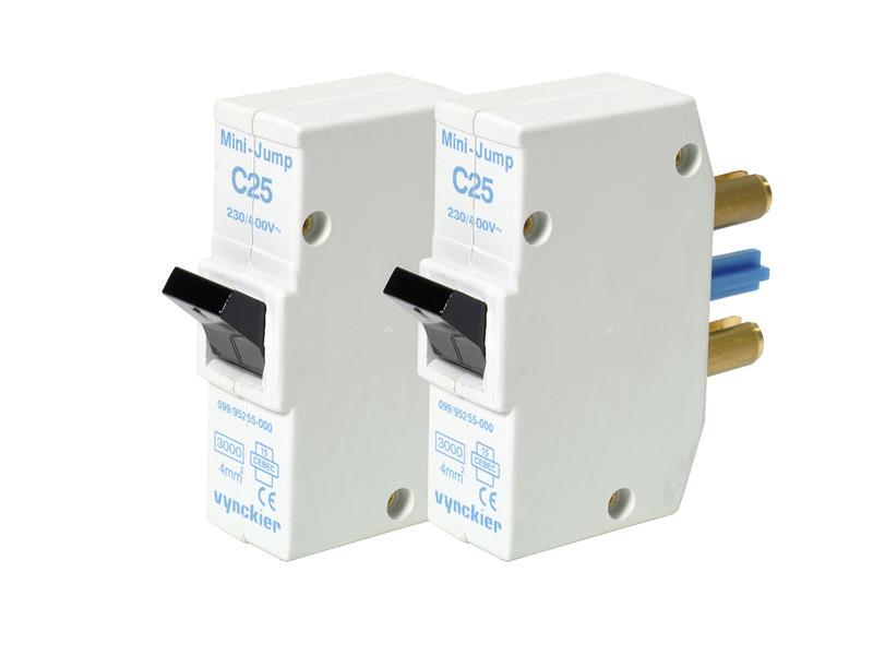 Vynckier Disjoncteur à broches Mini-Jump 25A 2 pièces