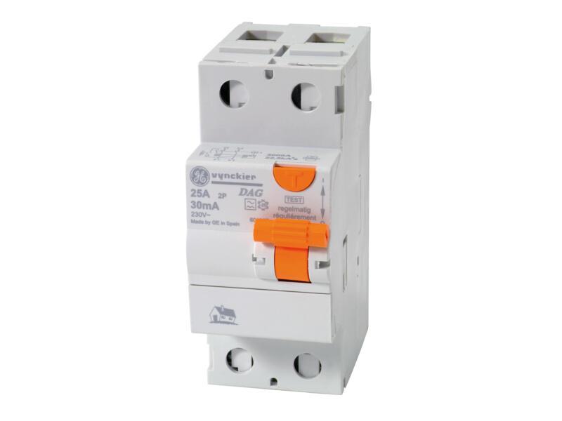 Disjoncteur différentiel 25A 2P 30mA