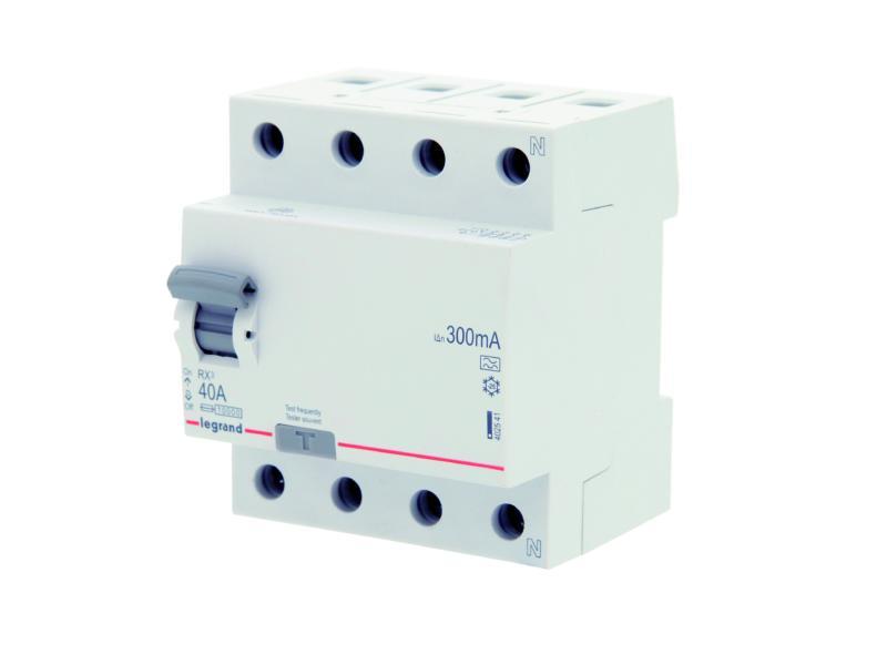 Disjoncteur différentiel 40A 4P 300mA