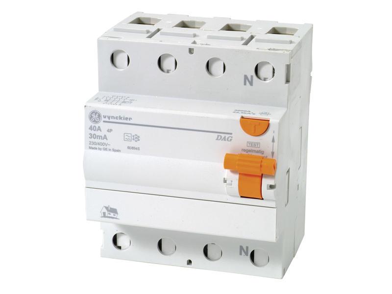 Vynckier Disjoncteur différentiel Diff-o-jump 40A 3P 30mA