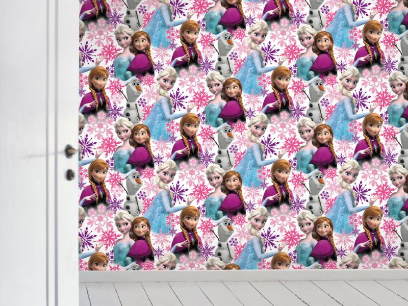 Disney Disney Frozen papierbehang Anna & Elsa multicolour/wit