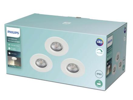Philips Dive spot LED encastrable 3x5 W dimmable blanc