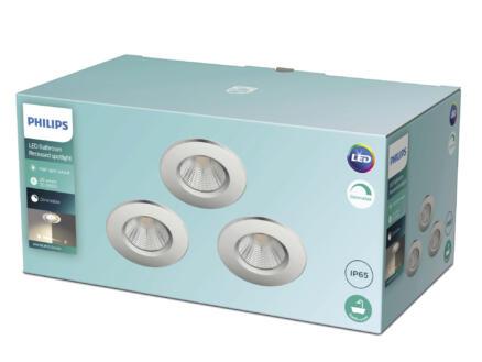 Philips Dive spot LED encastrable réflecteur 3x5 W dimmable chrome