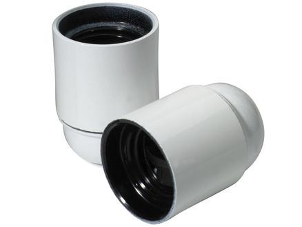 Douille E27 blanc 2 pièces