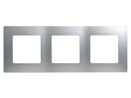 Legrand Drievoudige afdekplaat Niloé aluminium