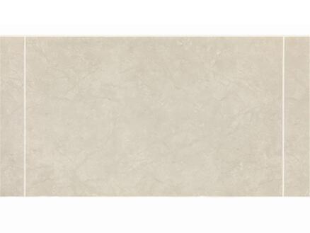 Dumaplast Dumalock Stone panneau mur et plafond 120x25 cm 2,4m² monaco gris 3 carreaux