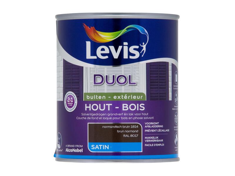 Levis Duol houtlak zijdeglans 0,75l normandisch bruin