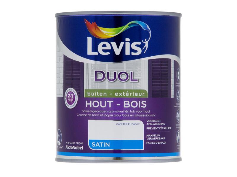 Levis Duol laque bois satin 0,75l blanc