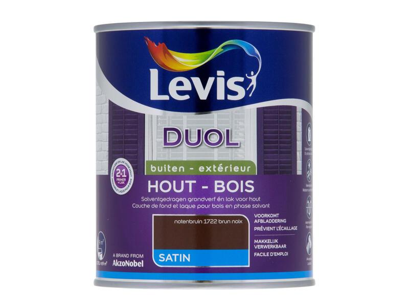 Levis Duol laque bois satin 0,75l brun noix