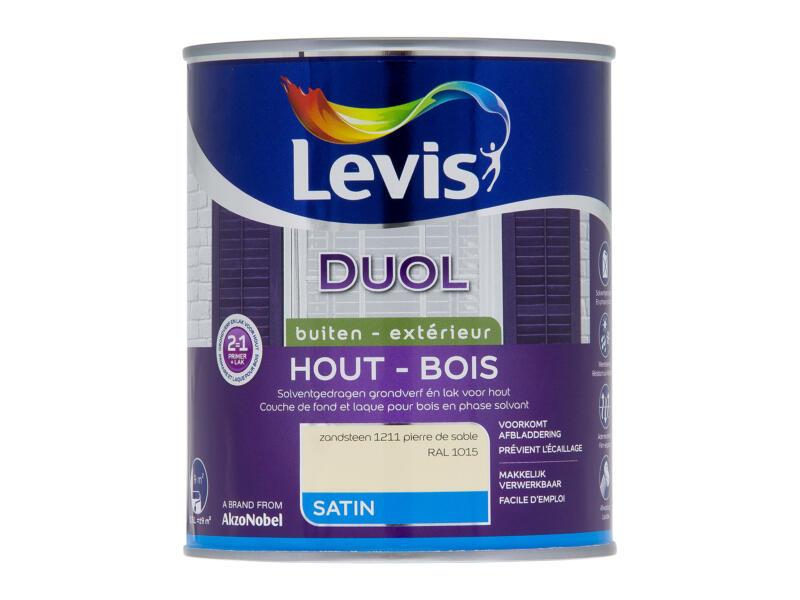 Levis Duol laque bois satin 0,75l pierre de sable