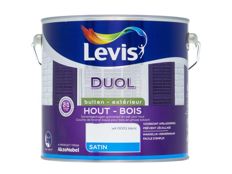 Levis Duol laque bois satin 2,5l blanc