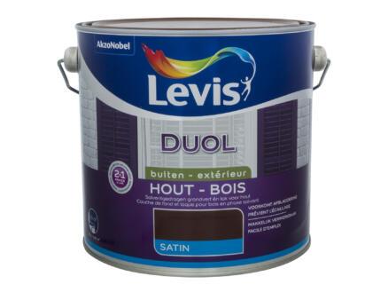 Levis Duol laque bois satin 2,5l brun noix