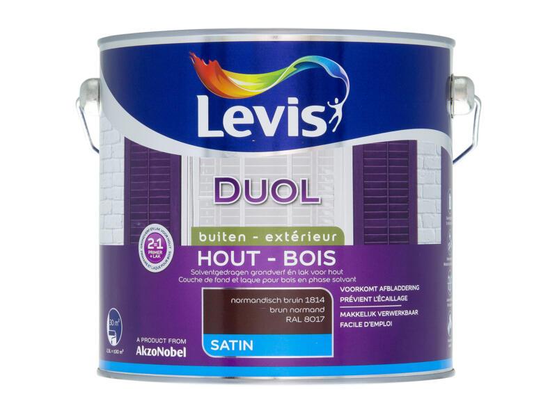 Levis Duol laque bois satin 2,5l brun normand