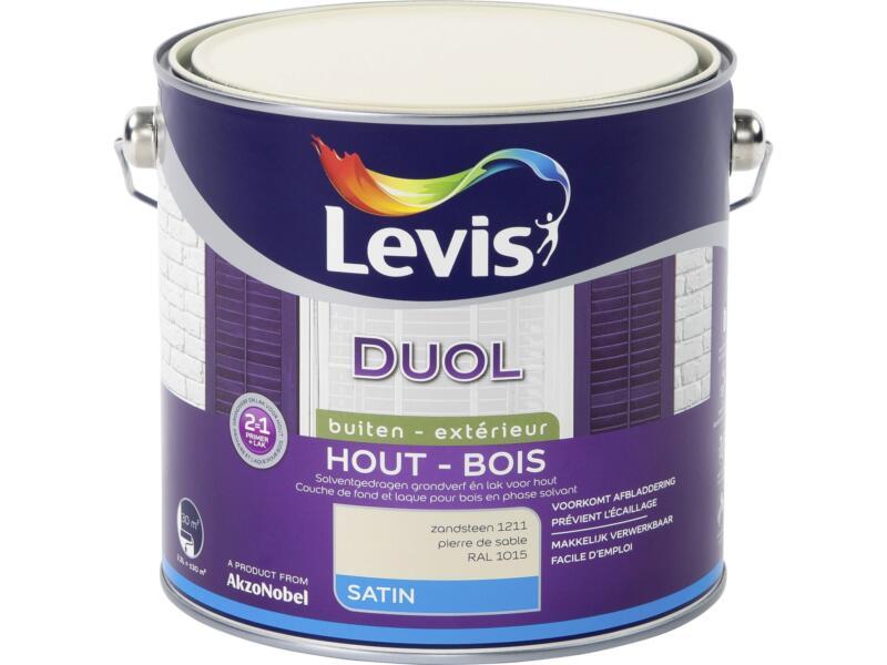 Levis Duol laque bois satin 2,5l pierre de sable
