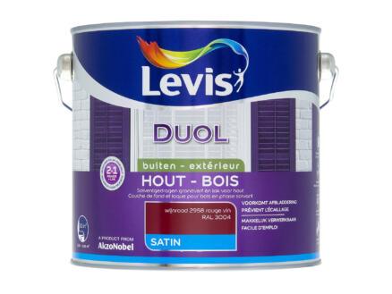 Levis Duol laque bois satin 2,5l rouge vin