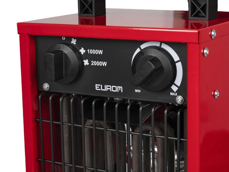 Eurom EK 2000 Fanheat warmeluchtblazer 2000W rood