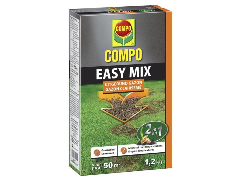 Compo Easy Mix 2-en-1 semence gazon gazons clairsemés 1,2kg