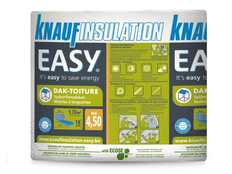 Knauf Insulation Easy isolation toiture laine de verre 490x35x18 cm R4,5 1,72m²