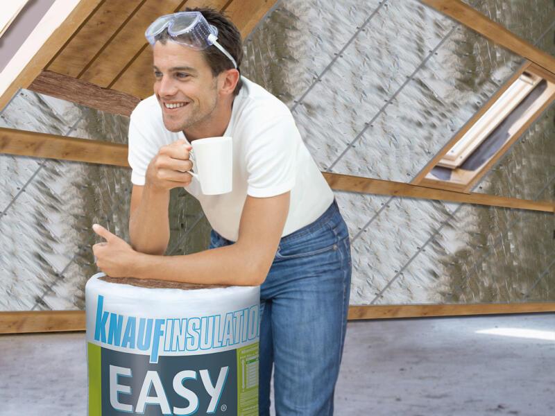 Knauf Insulation Easy isolation toiture laine de verre 590x35x15 cm R3,75 2,065m²
