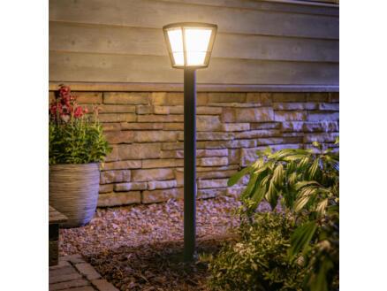 Philips Hue Econic LED sokkel lantaarn 15W 86cm dimbaar zwart