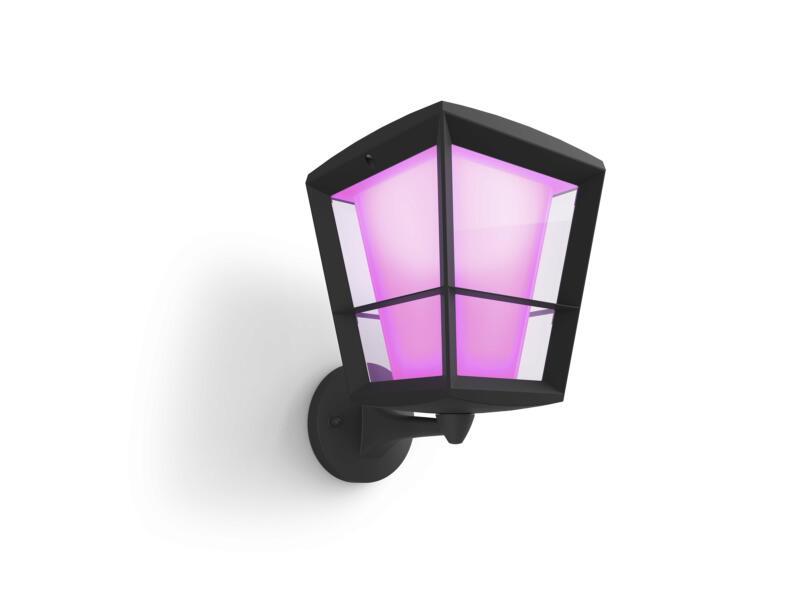 Philips Hue Econic LED wandlamp 15W hoge lantaarn dimbaar zwart