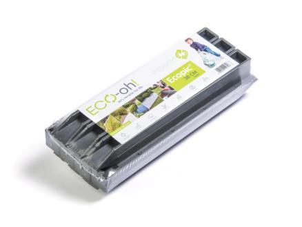 AVR Ecopic H-profile piquets de fixation 38cm gris 10 pièces + 20 vis
