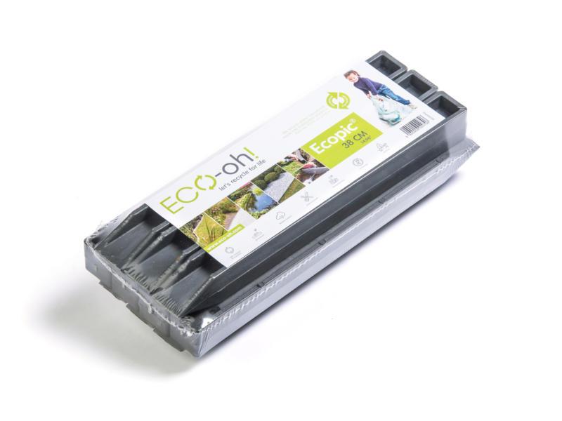 AVR Ecopic H-profile piquets de fixation 38cm gris 10 pièces