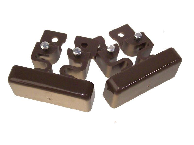 Legrand Einddeksel DLP 32x12,5 mm bruin