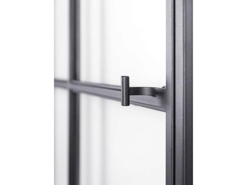Solid Elegance porte intérieure en acier gauche 8 vitrages 211x83 cm