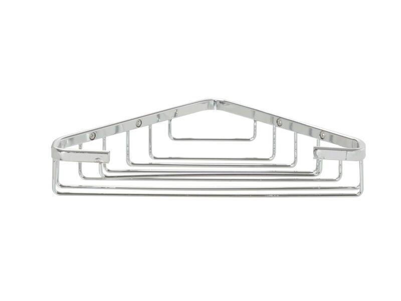 Elementals Basic Plus étagère d'angle simple chrome