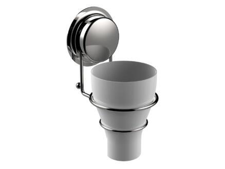 Sealskin Elementals gobelet + porte-gobelet à ventouse chrome