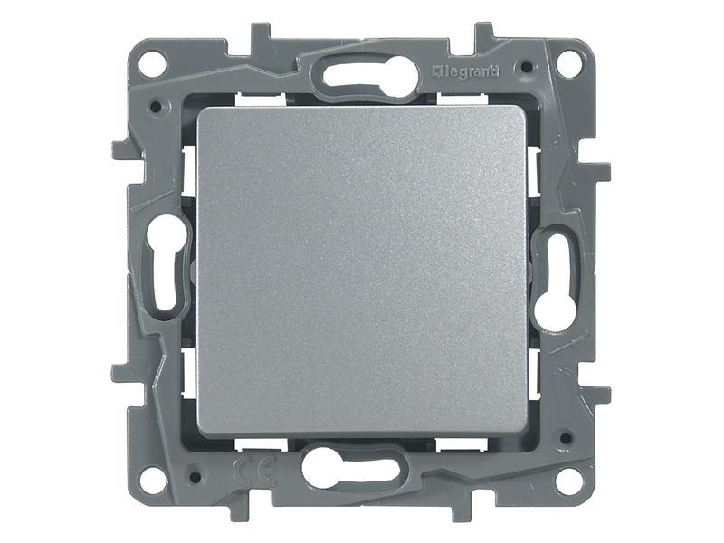 Enkelpolige drukknop Niloé aluminium