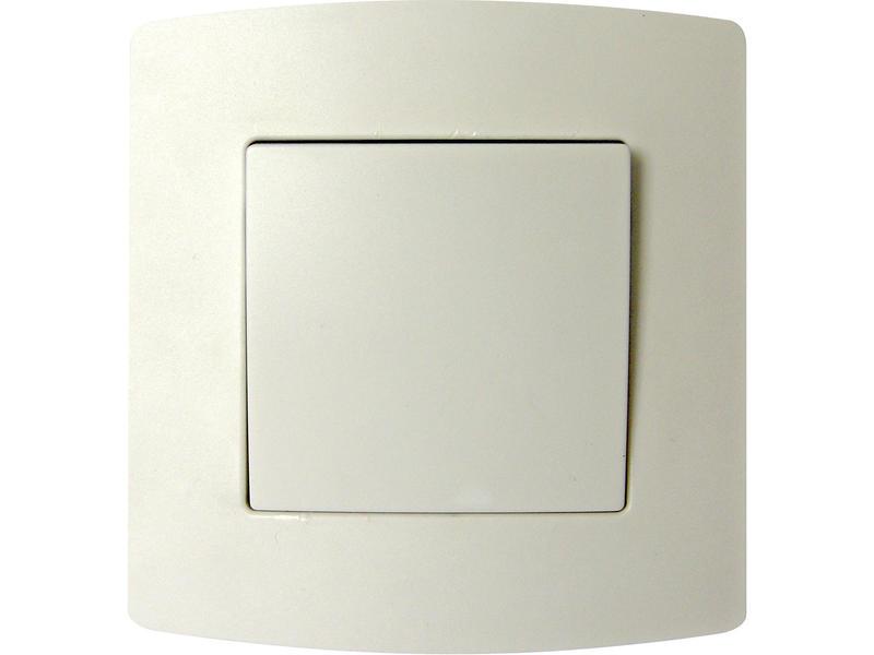 Enkelpolige schakelaar 10A inbouw wit