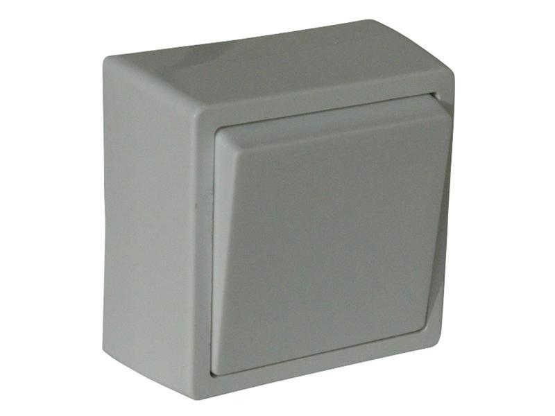 Enkelpolige schakelaar 10A opbouw wit