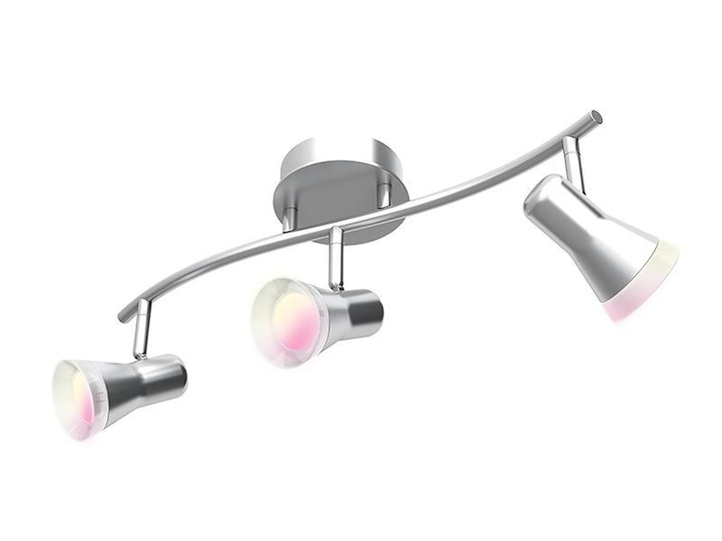iDual Epona balkspot GU10 3x5W dimbaar + afstandsbediening