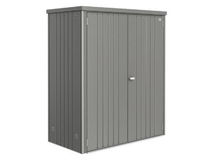 Biohort Equipment Locker 150 armoire de jardin 155x83x182,5 cm gris quartz métallique
