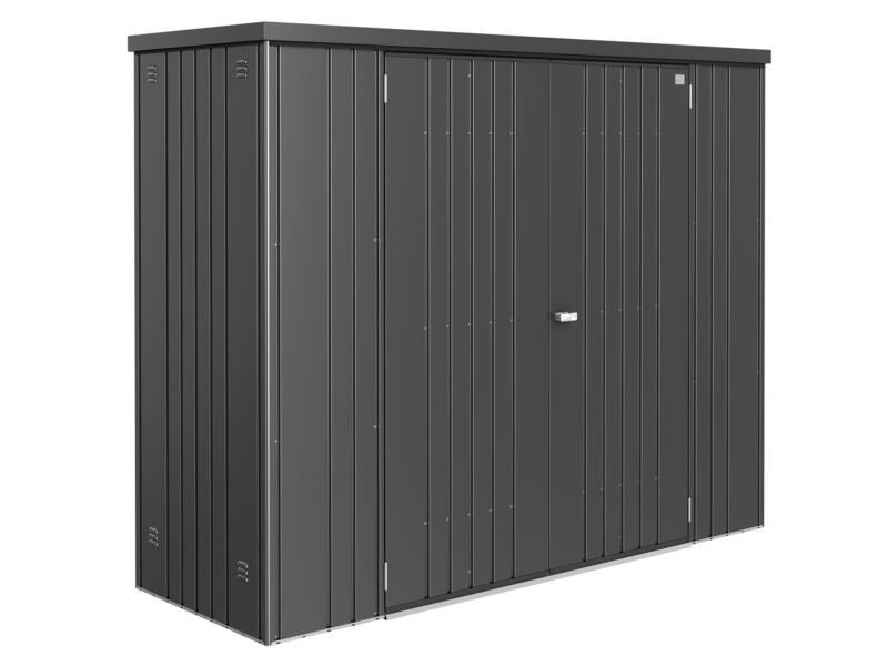 Biohort Equipment Locker 230 armoire de jardin 227x83x182,5 cm gris foncé métallique