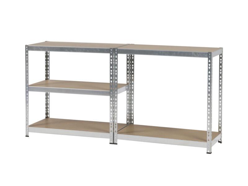 Practo Home Étagère 180x91x45 cm bois/métal