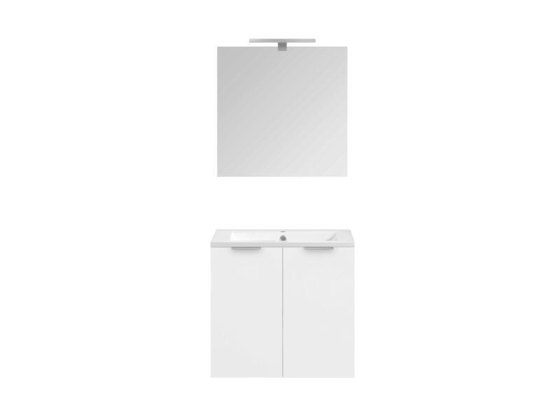Allibert Europack badkamermeubel 60cm 2 deuren glanzend wit