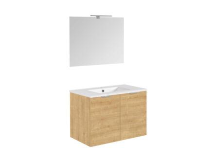 Allibert Europack badkamermeubel 80cm 2 deuren arlington eik