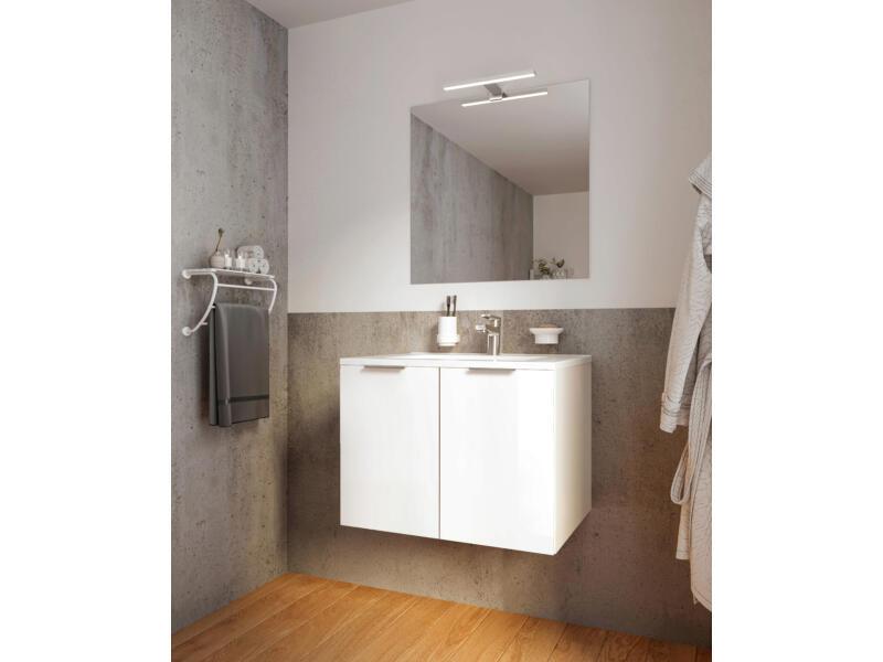 Allibert Europack badkamermeubel 80cm 2 deuren glanzend wit