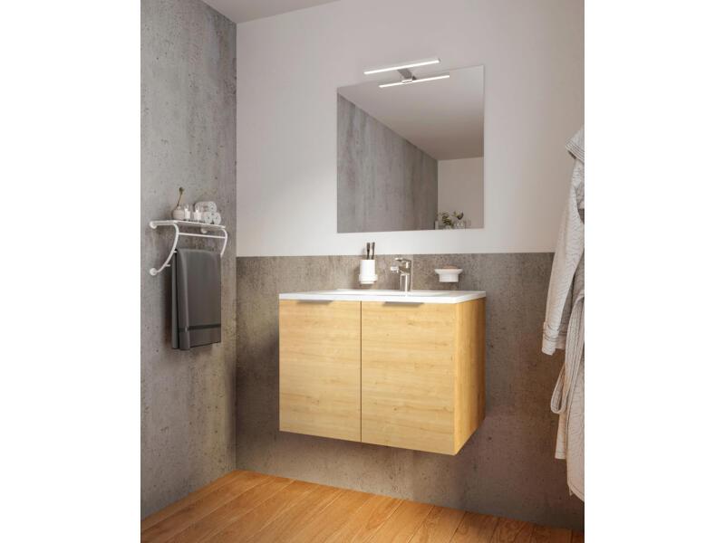 Allibert Europack meuble salle de bains 80cm 2 portes chêne arlington