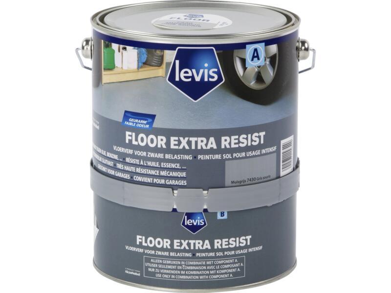 Levis Extra Resist vloerverf zijdeglans 2,5l muisgrijs