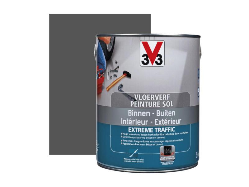 V33 Extreme Traffic peinture sol très sollicité satin 2,5l graphite