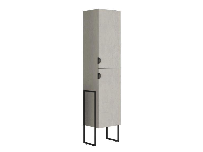 Allibert Faktory kolomkast 40cm 2 deuren mineraal beton
