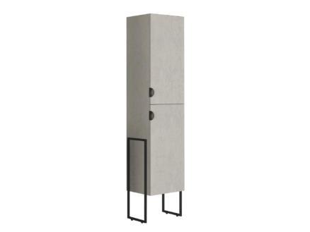 Allibert Faktory meuble colonne 40cm 2 portes béton minéral
