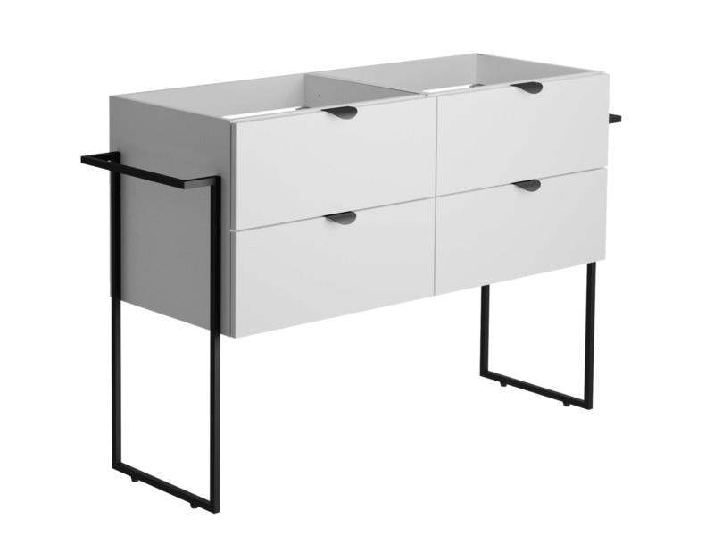 Allibert Faktory meuble lavabo 120cm 4 tiroirs blanc mat